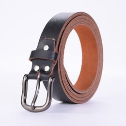 Inner Belt UK - 6 Packs New Men's Belt Business Leather Belts First Layer Leather Needle Buckle Belt Manufacturers Wholesale