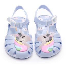 Cute Sandals For Baby Girls Australia - 2019 New Kids Mini Jelly Sandals For Baby Children Sandals Girls Summer Cute Unicorn Beach Flat Shoes Infantil Sandalia Y190523