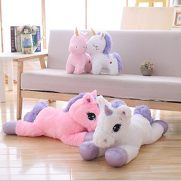 $enCountryForm.capitalKeyWord Australia - Giant Size Unicorn Plush Toy Soft Stuffed Cartoon Unicorn Dolls Animal Horse High Quality Gift For Drop Shiping J190717