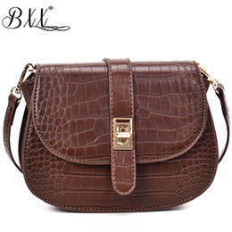 China BXX Bag   2019 New Fashion Spring Summer Flap Poxket Vintage Crocodile Pattern Solid Color Shoulder Diagonal Saddle Bags ZB038 supplier saddle brown color suppliers