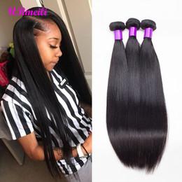 Cheap Human Hair Extensions 24 Inch Australia - Malaysian Straight Human Hair Bundles 9A 100% Human Nice Hair Extension Natural Color cheap 30 inch 3 4 Bundles Straight Virgin Hair Weaves