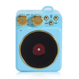 Record Audio Australia - Portable Mini Retro Bluetooth Wireless Speaker Support Stereo Bass Tf Card Fm Radio Nostalgic Atomic Record Player Speaker