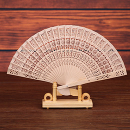 Hand fans folding carved online shopping - Sandalwood Folding Hand Fans Wedding Gift Chinese Classic Bamboo Fan Carved Hand Fans Wedding Favors Party Supplies