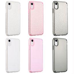 Motorola X Cases Australia - Luxury Hybrid Bling Glitter Clear Transparent Anti Scratch Soft TPU PC Back Cover Case For iPhone XS Max XR X 8 7 6 6S Plus