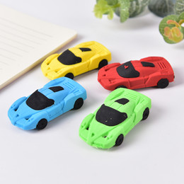 Designers Pen NZ - 1pcs Cute Car styling Designer Students Pen Shape Eraser Rubber Stationery Kid Creative Gifts Toy School Supplies