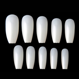 $enCountryForm.capitalKeyWord NZ - New 500pcs Tips Full Coffin Shape French Fake Professional Nail Art Tip Square Style Nature False Nails Tool