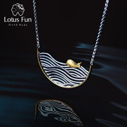 $enCountryForm.capitalKeyWord Australia - Lotus Fun Real 925 Sterling Silver Handmade Designer Fine Jewelry Creative Swimming Fish Necklace For Women Acessorio Collier J190706