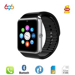 Smart Watch Android Sync Australia - 696 Smart Watch GT08 Clock Sync Notifier Support Sim TF Card Bluetooth Connectivity Android Phone Smartwatch Alloy Smartwatch