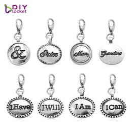 dangle charm floating locket Canada - Fashion Charms 20PCS dangles necklace pendants fit floating charm Origami owl locket with Lobster clasp LSFE32