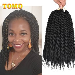 $enCountryForm.capitalKeyWord Australia - TOMO Havana Mambo Twist Senegalese Twist Braids Ombre Crochet Hair For Black White Women Synthetic Braiding Hair Extensions 12 roots pack