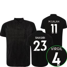 18 19 m Fußball-Trikot Blackout-Sonderausgabe 2018 2019 SHAQIRI VIRGIL FIRMINO Mähnen-Fußballhemden hochwertig anpassen