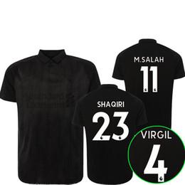 18 19 maillot de football salah Blackout édition spéciale 2018 2019 SHAQIRI VIRGIL FIRMINO maillots de football à crinière top qualité personnaliser