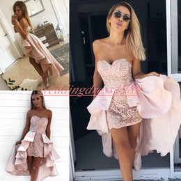 c9b96202b2827 Sexy maternity cocktail dreSSeS online shopping - Sexy Lace Arabic  Homecoming Dresses Party Overskirt Sweetheart High