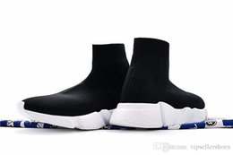 Women Winter Shoes 36 Australia - High Quality Original 2018 Speed Trainer Casual shoes Speed stretch-knit Mid sneakers for men and women Top Boots Casual shoe Eur 36-45