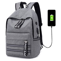 042417d18dbc 2019 Men Business Travel Usb Charging Backpacks Teenager College Large  Capacity School Backpack For Boy Girls Student Casual Bag