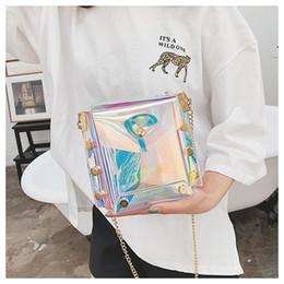 Clear totes wholesale online shopping - Fashion Women Transparent Chain Handbag Beach Bag Clear Jelly Purse Clutch PVC Tote