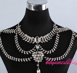 $enCountryForm.capitalKeyWord Australia - TJ059 New Luxury Bridal Jewelry Set Shoulder Necklace for wedding evening party dress
