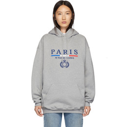 Crowns letters online shopping - 19FW BLCG Paris Letter Crown Wheat Hooded Sweatshirt Couple Casual High Street Men Women Couple Hoodies Casual Three Colors HFHLWY071