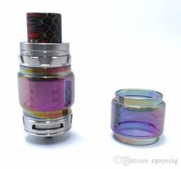 Wholesale Items Sold Australia - e cigarette atomizer rainbow glass tube replacement for tfv12 prince tfv12 baby prince tank 2018 latest craze selling cheap items