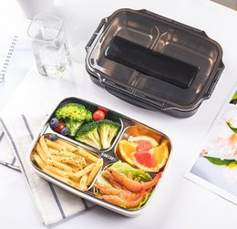 $enCountryForm.capitalKeyWord Australia - Lunch box stainless steel lunch box multi-disc with tableware can be filled with chopsticks spoon microwave oven heated lunch box