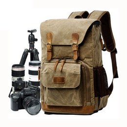 10d531307c 2019 New Camera Liner Slr Digital Backpack Waterproof Canvas Shoulder  Camera Bag Fits Traveling Men And Women