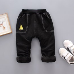 Warm Pants Boy NZ - good quality winter boys pants cotton thicken trousers children boys casual velvet sports leggings kids boys fashion warm clothing