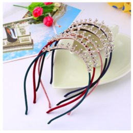hair claws rhinestones Australia - New Crown Crystal Headband Diamond For Kid Women Girls Princess Rhinestone Headwear Hair Band Baby Accessories high quality 2020 new hot