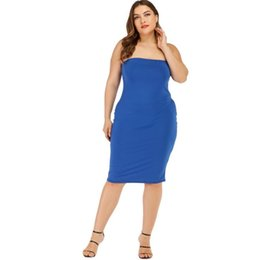 tube top dress plus size Australia - Europe and America Large size Women's dress Cross-border Explosion models Sexy tube top dress Backless bag Hip skirt
