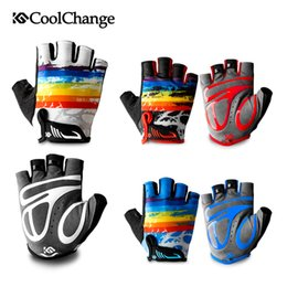 $enCountryForm.capitalKeyWord NZ - CoolChange Cycling Gloves Children Summer Sports Half Finger Bicycle Gloves Breathable Shockproof Kids Bike Gloves For Boy Girls