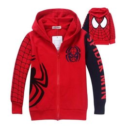Spiderman hoodie 4t online shopping - New Boys Spiderman Coat Kids Cotton Spring Jacket Chirdren Character Lovely Hoodies Outerwear Spider man Boys Clothes
