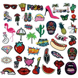 Styles Backpacks Australia - Sew on Iron on Glue on Patches Pack of 39 Pcs - Mix Styles DIY Embroidered Applique Decoration Patches for Jackets, Backpacks