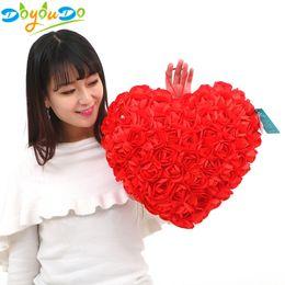 $enCountryForm.capitalKeyWord NZ - New Hot Rose Heart Shape Plush Toy Wedding Decoration Soft Pillows Home Decor Valentine's Day Gifts