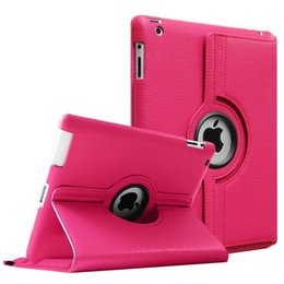 Wholesale 360 Degree Rotating Leather Case Cover For iPad Air2 Mini New iPad Pro
