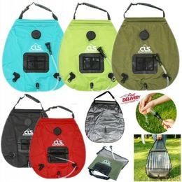 $enCountryForm.capitalKeyWord Canada - Portable Water Bags 20L Solar Camping Shower Bag Outdoor Hiking Self-Drive Heated Bathing Sun Energy Bath Storage Bags Watering Equipments