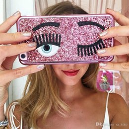 $enCountryForm.capitalKeyWord Australia - Mytoto fashion brand Chiara ferragni Bling Glitter powder 3D big eye eyelashes Plating phone Case for iPhone 6 6s 7 8 plus 10 X cover