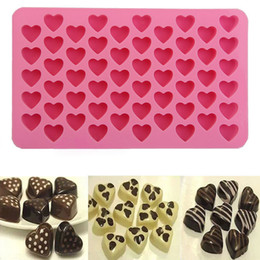 $enCountryForm.capitalKeyWord Australia - 55 Heart Silicone Ice Cream Cake Chocolate Cookies Baking Mould Ice Cube Soap Mold Tray Hot Sell Decoration Molds Kitchen Tools