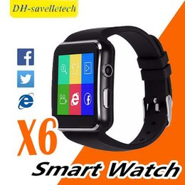 $enCountryForm.capitalKeyWord Australia - X6 Smart Watches With Camera Touch Screen Support SIM TF Card Bluetooth Smartwatch For Iphone X Samsung s9 Phone with Retail Box