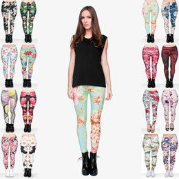 80bc2880e4 Women Leggings Mix 16 Styles Flower Bird Muffin Vintage Rose Daisy Muha  Floral 3D Print Printed Comfortable Trousers Lady Soft Pants (Y016)