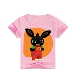 $enCountryForm.capitalKeyWord Australia - Hot Sale Bing Bunny Design Children's Funny T-Shirts Boys Girls Casual Clothes for Baby Rabbit Cute Tops Tees Kids Summer