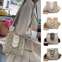 $enCountryForm.capitalKeyWord Australia - HOT Fashion Women Hand-Woven Straw Leather Bag Shoulder Bag Patchwork Crossbody Bags high quality shouder bags *