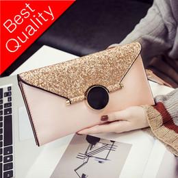 $enCountryForm.capitalKeyWord Australia - 2017 Fashion New Women Envelope Clutch bag Quality PU leather Sequins Women bag Temperament Ladies Chain Shoulder Messenger bag