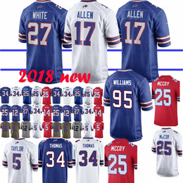 93e1b9035 Buffalo Jersey 17 Josh Allen Bills 12 Jim Kelly 49 Tremaine Edmunds 25 LeSean  McCoy 27 Tre Davious Blanc 34 Thurman Thomas Jerseys top