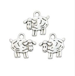 Wholesale 200pcs Antique Silver Plated Sheep Charms Pendants for Necklace Jewelry Making DIY Handmade Craft x16mm