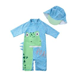 Branded Baby Kids Clothes Australia - Brand New Toddler Infant Child Kids Baby Boy Girl Kid Dinosaur Surfing Swimsuit Jumpsuit Bathing Suit 2Pcs Clothes Outfits