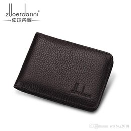 Hot black men pHotos online shopping - Top Quality Men Wallets fashion hot sale Man letter real leather mini card holder for women with box abc