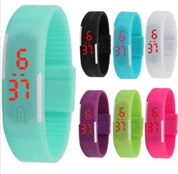 $enCountryForm.capitalKeyWord NZ - Fashion Sports LED Watch Men Candy Color Silicone Rubber Touch Screen Digital Watch Lady Bracelet Watch dc483