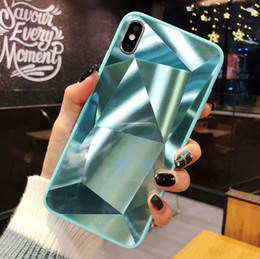 $enCountryForm.capitalKeyWord NZ - New 2019 3D diamond glass apple phone case for iPhone all style Anti-fall function TPU+Glass Material Cell Phone Accessories