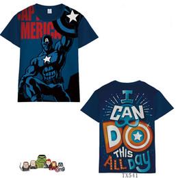 $enCountryForm.capitalKeyWord Australia - Marvel Avengers 4 Caption America Iron Man Raytheon Hulk Short Sleeve Summer Men Women Trend Clothing TX541 Cosplay Costumes T-Shirt