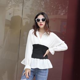 $enCountryForm.capitalKeyWord Australia - 2019 Women Korean Blouse Vintage Polka Dot Ruffle Peplum Tops Fashion Long Sleeve Elastic Waist Ladies Office Shirt Blusas Mujer