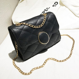 Car Lights Australia - 2019 designer new fashion all-in-one chain simple casual cross body lacing car sewing single shoulder small square bag 18*18*7